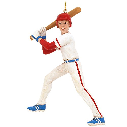 Kurt Adler 5.5-Inch Baseball Boy Christmas Ornament Baseball Christmas Ornaments