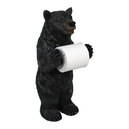 River's Edge Products Paper Toilet Holder, Bear Standing Bathroom Funny Decorative Toilet Paper Holders