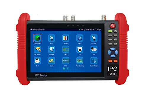 7 Inch Touch Screen 5 in 1 CCTV Tester Support Upt to 4K IP Camera & 720P/1080P/3.0mp/4.0mp/5.0 Megapixel AHD, TVI, CVI & CVBS Analog Camera, with Keyboard/IP Discovery/Rapid ONVIF/WiFi/APP (Network Monitor)