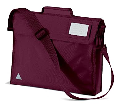 Quadra Junior Book Bag With Strap, Burgundy: Amazon.co.uk: Clothing