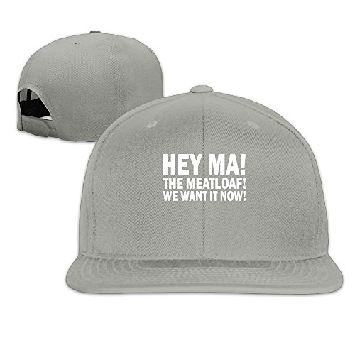 WQSBW42B Hey MA! The Meatloaf Baseball Flag Cap Mesh Unisex Adult-One Size Snapback Trucker Hats (Adult Hey Sailor)
