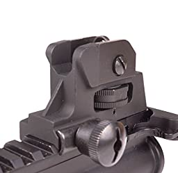 Rear Iron Sight for AR Style Rifles - Picatinny Mount Detachable Adjustable - by Ozark Armament