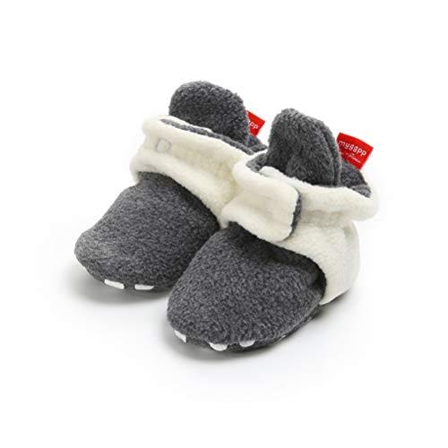 Botas de Niño Calcetín Invierno Soft Sole Crib Raya de Caliente Boots de Algodón  para Bebés 3ec1430673e6