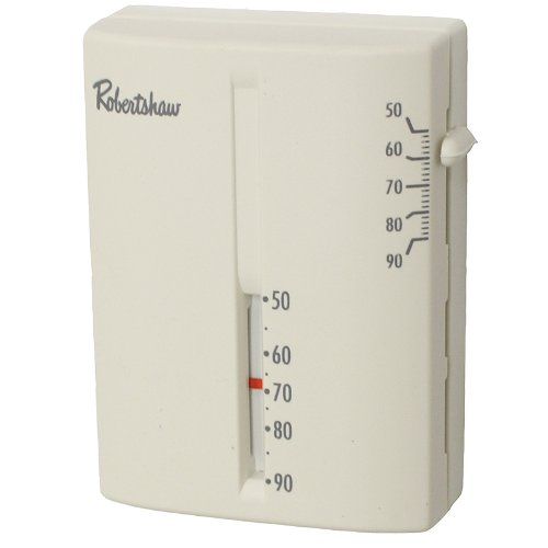 Robertshaw 9204V 24-Volt AC Heating Only Deluxe Mechanical Thermostat, SPST (...