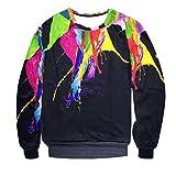 Men Sweatshirts Long, Mens Fashion Long Sleeve Splash-Ink 3D Printed Sweatshirt Top Blouse