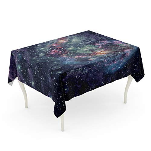 Semtomn 60 x 102 Inch Decorative Rectangle Tablecloth Nebula and Galaxies in Space of This Furnished Waterproof Oil-Proof Printed Table Cloth ()