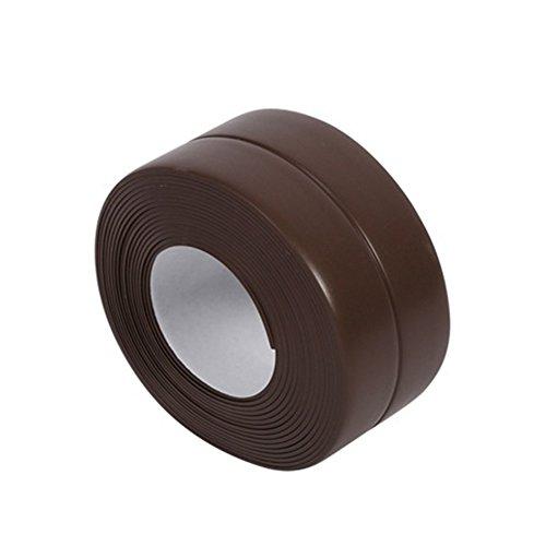 Franja de Gilroy calk–Cinta de sellado para tina pared baño cocina, decorativos recortar, impermeable prueba de moho...
