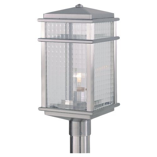 Murray Feiss MF OL3408 Craftsman / Mission 1 Light Post Light from the Mission L, Brushed Aluminum