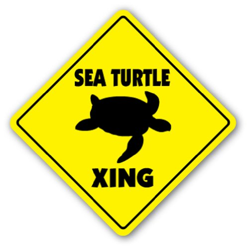 SEA TURTLE CROSSING Sign novelty gift animals