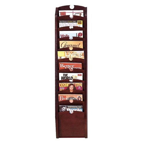 Ten Pocket Magazine Rack (Cherry) by Lesro