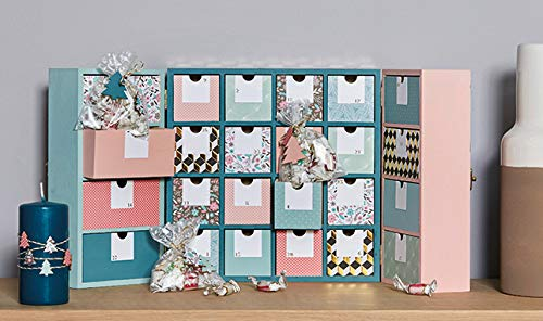 Artemio 14002225/Calendario de adviento con boquillas triptique Madera 55/x 6,5/x 28/cm
