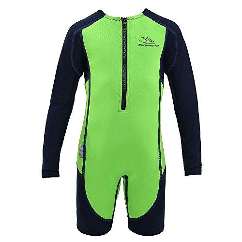 Aqua Sphere Stingray Long Sleeve Wet Suit, Green Long Sleeve, 6 ()