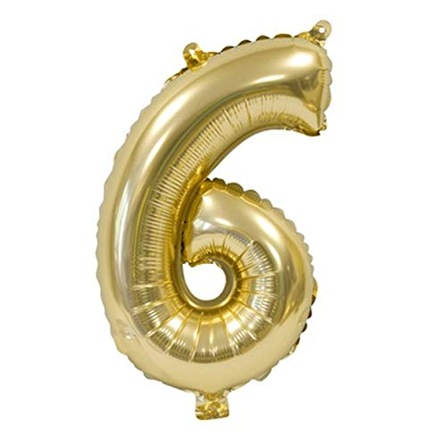 H&B HB - Balón Metal Oro 36 cm - Número 6: Amazon.es: Hogar