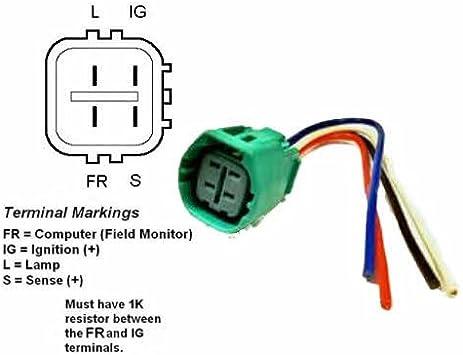 [WQZT_9871]  Amazon.com: ALTERNATOR REGULATOR PLUG PIGTAIL (PLUG CODE 917) - 9801917:  Automotive | Honda 4 Wire Alternator Wiring Diagram |  | Amazon.com
