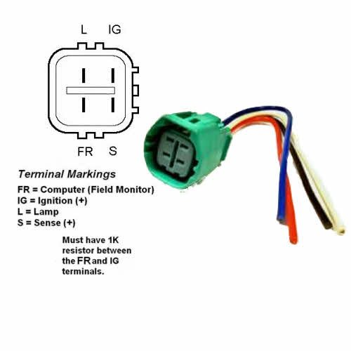 41905SbcjcL amazon com alternator regulator plug pigtail (plug code 917 Denso Alternator Wiring Diagram Mopar at crackthecode.co