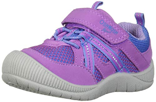 OshKosh B'Gosh Ada Girl's Mesh Athletic Bumptoe Sneaker, Purple 10 M US Toddler