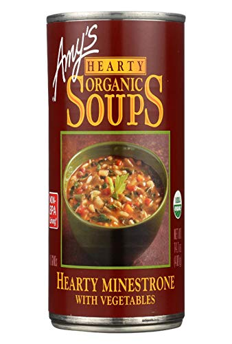 - Amys Organic Hearty Minestrone with Vegetables Soup, 12.7 Ounce - 12 per case.