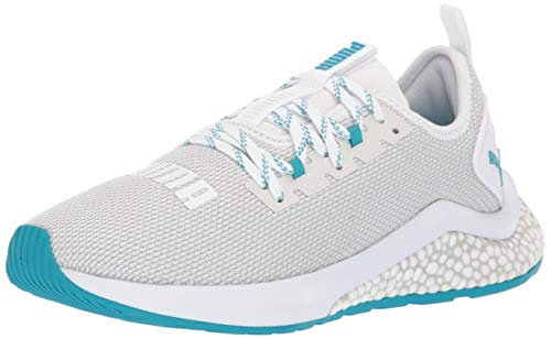 PUMA Women's Hybrid NX Sneaker, White-Caribbean sea, 9.5 M US