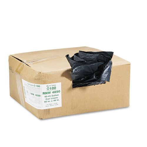 Earthsense Commercial RNW4850 Rcycld Can Liner,Hvy-Dty,1.25mil,40-45 ()