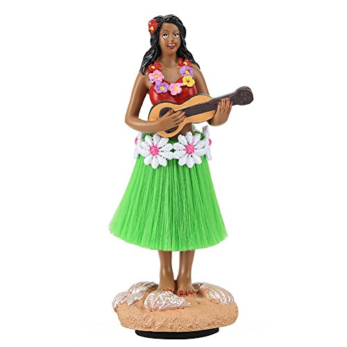 [Hula Girl,SMYER Posing Mini Dashboard Doll Natural Skirt Playing Ukulele Hawaiian Gifts for Decoration] (Zombie Costume Ideas For Adults)