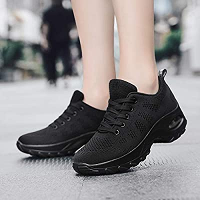 Xinantime Womens Mesh Breathable Low-Top Sneakers Shoes Lightweight Non-Slip Running Shoes: Clothing