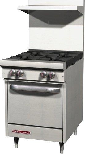 [Southbend S-Series S24E 24'' Gas Range, 4 Open Burner, Standard Oven | 147,000 BTU] (Imperial Gas Range)