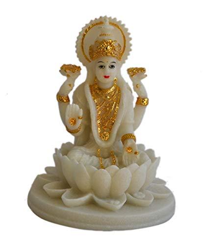My Aashis Lakshmi Beautiful Statues Hindu Good Luck God (Blessing White Lakshmi)