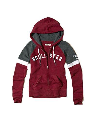 Hollister Womens Lightweight Hoodie Sweatshirt  Small  Burgundy  17