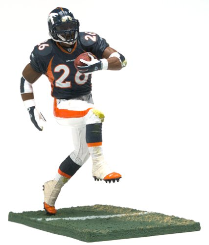 McFarlane Toys NFL Sports Picks Series 7 Action Figure Clinton Portis (Denver Broncos) Blue (Broncos Blue Jersey)