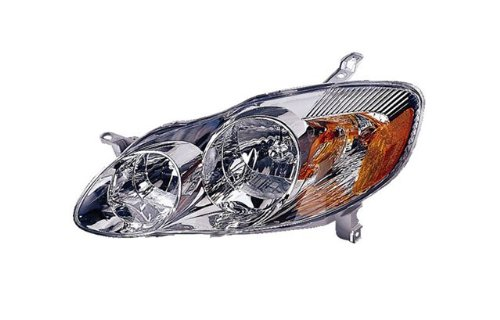 Toyota Corolla (CE, LE) Replacement Headlight Assembly (Chrome) - 1-Pair by ()