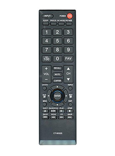 DSK TV Supply Replacement CT-90325 Remote Control For Toshiba LCD/ LED TV's (Toshiba Tv 32c120u)