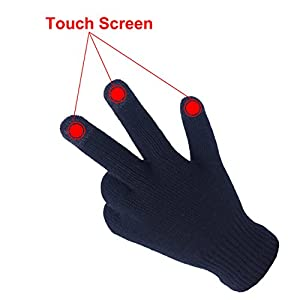 EvridWear Unisex Merino Wool Winter Glove liners, Smartphone Touch Screen Gloves for Men & Women, Knit Warm Texting Mittens Gloves (L/XL, Black)