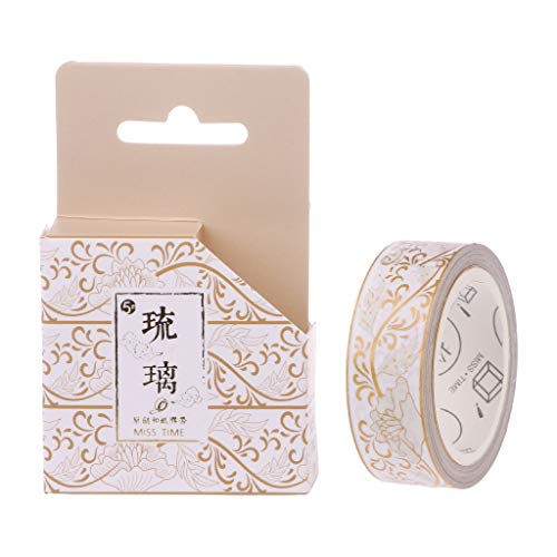 - Redriver Classical Chinese Style Washi Tape, Paper Adhesive Sticker for Scrapbook Diary DIY Decor Gift(1 Roll) (6)