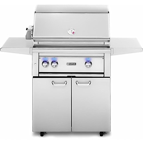 Lynx L30PSFR-2-LP Propane Gas Grill-On Cart with Pro Sear Burner and Rotisserie, (Gas Liquid Propane Rotisserie)