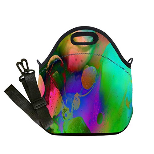 Lunch Box Insulation Lunch Bag Large Cooling Tote Bag Neoprene Insulated Lunch Tote Bag Primordial Soup Space Science Fantasy Abstract custom Stylish Lunch Bag, Multi-use for Men, Women and Kids