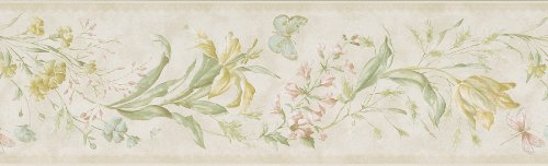 Mirage 983B01080 Signature V Libella Pearl Butterfly Floral Stripe (Wildflower Wallpaper)