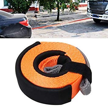 Uniqus 5m x 5cm 8 Tons Towing 2 Tons Lifting High Strength Heavy Duty Vehicle Lifting Towing Pull Strap Rope, Random color Delivery