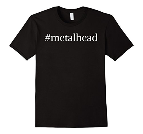 Mens Hashtag 'Metal head' Heavy Metal T-Shirt Large - Heads Metal
