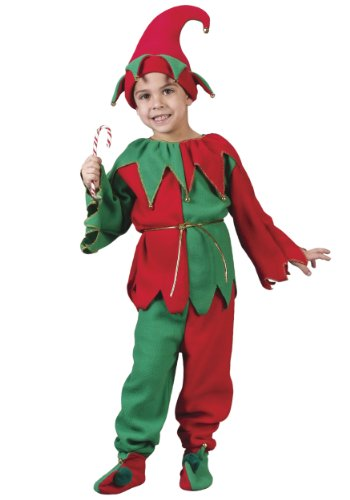 [Fun World Costumes Baby Girl's Child Elf Costume, Red/Green, Large] (Green And Red Elf Costumes)
