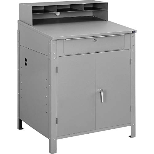 (Shop Desk w Pigeonhole Compartments and Lower Cabinet, 34-1/2