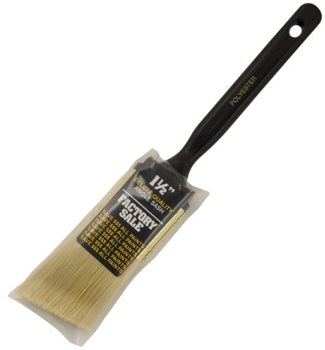 Wooster Brush 1/2 P3970-1.5 1-1/2IN P3970-1-1/2 Factory Sale Polyester Angle Sash Paintbrush, 1-1/2-Inch ()