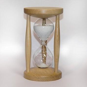 Reloj De Arena 15 Minutos Haya Natural Relojes De Arena: Amazon.es: Hogar
