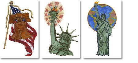 Brother SA630 Liberty Applique Embroidery Designs on Floppy (Brother Embroidery Machine Disk)