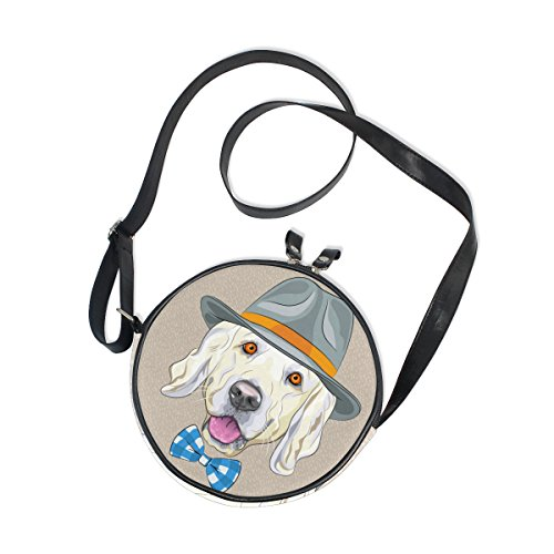 Girls Hats Shoes Purses - XinMing Hat Dog Girl Round Crossbody Shoulder Bags Adjustable Top Handle Bags Satchel for Women