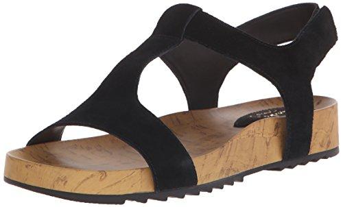 Clarks mujer zelby Zena sandalias de plataforma Black Suede