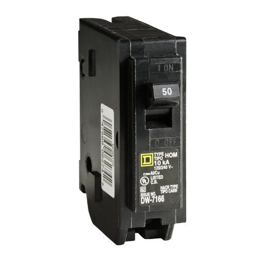 Square D by Schneider Electric HOM150CP Homeline 50-Amp Single-Pole Circuit Breaker (Breaker Ge Single Circuit Pole)