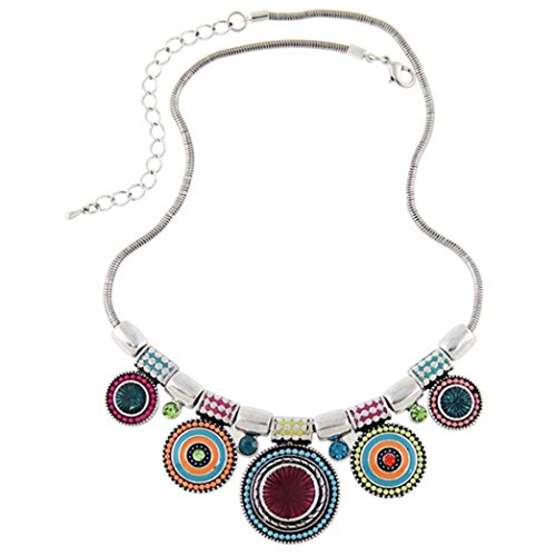 Clearance ! Bracelet, Fitfulvan 2018 Elegant Necklace Fashion Ethnic Style Vintage Plated Colorful Bead Pendant Gift Jewelry (Coral Necklace Jewelry)