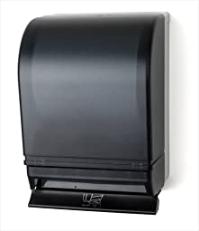 E-Z Taping System TD0215-01 Auto Transfer Push Bar Lever Towel Dispenser in Dark Translucent