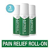 Biofreeze Pain Relief RollOn 3 oz RollOn Fast Acting Long Lasting  Powerful Topical Pain Reliever Pack of 3 Packaging May Vary