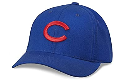 MLB American Needle Cooperstown Tradition Wool Adjustable Snapback Hat (Chicago Cubs - Blue)